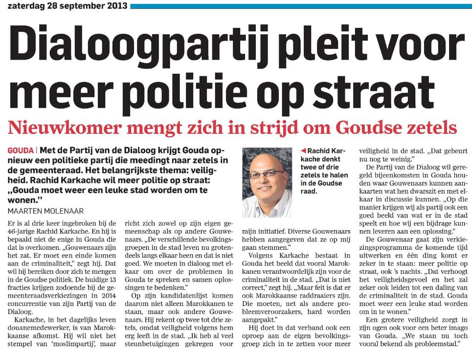 Dialoogpartij pleit voor meer politie op straat